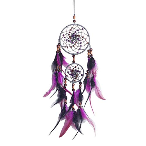 MEELLION Dream Catchers for Cars Rear View Mirror Wall Hanging Decorations Car Charm Ornament (Purple) GYMJN