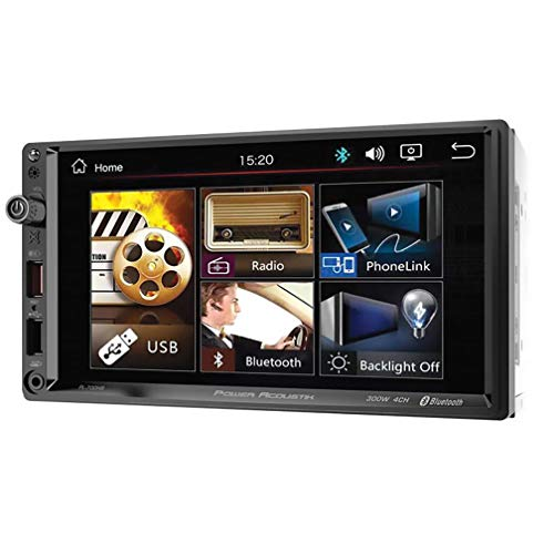 Power Acoustik PL‐700HB 7-Inch Double-DIN in-Dash All-Digital Media Receiver with Bluetooth and Android PhoneLink