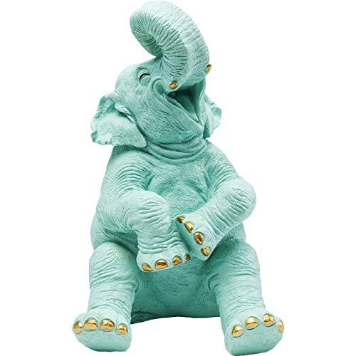 Kare Design Spardose Happy Elephant Türkis 24 39 29 24 x 29 x 39 Spardose Happy Elephant Kunststoff