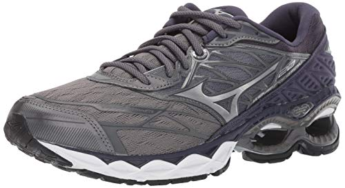 Mizuno Mens Wave Creation 20 Running Shoe, Stormy Weather-Silver, 7 D US