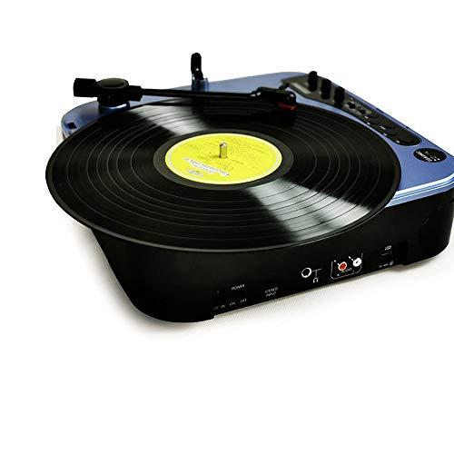 DLY Multifunctionele platenspeler van vinyl, draagbaar, moderne woonkamer thuis, FM-luidspreker, bluetooth, oplaadbaar
