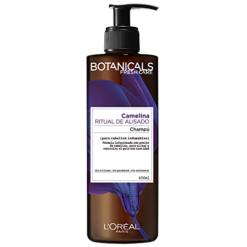 L'Oreal Paris Botanicals Champú Ritual de Alisado, para cabellos indomables - 400 ml