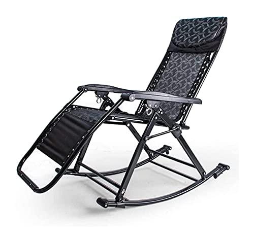 WECDS Schaukelstuhl Klappstuhl Casual Adult Faul Chair Schlafzimmer Wohnzimmer Lounge Chair Bürosessel Mit Sitz (Color : F, Size : 50x86x45cm)