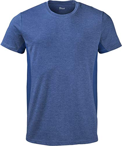 CRIVIT® Herren Sportshirt/Funktionsshirt, kurz (Gr. M 48/50, blau meliert)