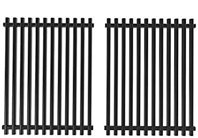 SHINESTAR 15 inch Cooking Grate Replacement for Weber Spirit 200 Grill Grate S-200/S-210/E-200/E-210, Genesis Silver A, Spirit 500(Side-Mounted Control Knob) Kenmore, 15 x 11 1/4 Porcelain Steel Grid