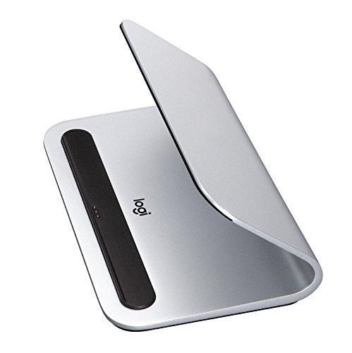 Logitech BASE Kabellose Ladestation mit Smart Connector Technologie für iPad (7. Generation), iPad Air (3. Generation), iPad Pro 9,7 Zoll, 10,5 Zoll, 12,9 Zoll (1. und 2. Generation) - Silber