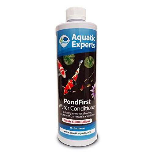 Aquatic Experts PondFirst Pond Water Conditioner - Concentrated Instant Dechlorinator for Fish Ponds, Makes Water Safe for Koi and Goldfish, Made in The USA (1 Pack)