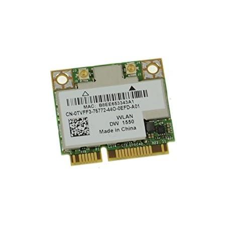 TVFF3 - Dell Wireless 1550 DW1550 WiFi 802.11 a/b/g/n/AC + Bluetooth 4.0 Half-Height Mini-PCI Express Card - TVFF3