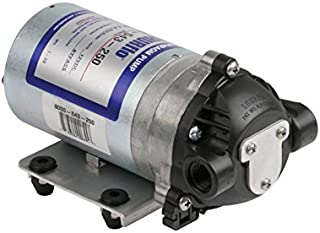 Pentair Hypro Shurflo 8000-543-250 Internal Bypass Agricultural Spraying Diaphragm Pump, 1.8 GPM c/w Santoprene Diaphragm, Viton Valves, Self-Priming Upto 8 Feet, 50PSI, 12V, 3/8