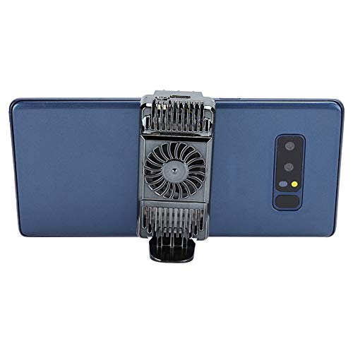Plyisty Enfriador de teléfono móvil, Ventilador de refrigeración de teléfono móvil Semiconductor Disipador de Calor Soporte del radiador del teléfono, para teléfonos de 4 a 6.5 Pulgadas(Deslustre)