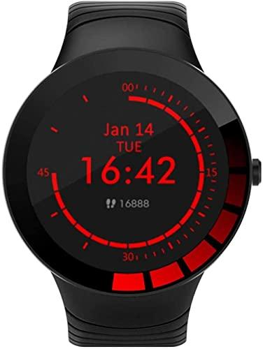 JSL Pulsera impermeable inteligente personalizada, círculo completo pantalla táctil deportes seguimiento reloj deportivo, regalo de los hombres
