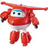 Super Wings US710210 - Transforming Jett Toy Figure, Plane, Bot, 5' Scale, Red