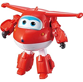 Super Wings - Transforming Jett   5   Scale   Flying Plane to Bot in 10 Steps   Birthday Gifts for 3 4 5 Year Old Boys and Girls   Fun Airplane Toys for Preschool Kids   Alpha Group