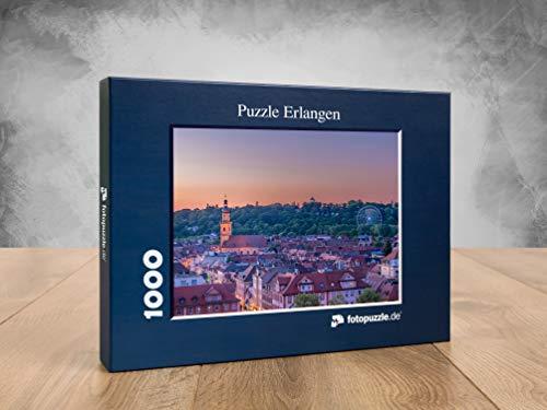 fotopuzzle.de Puzzle Erlangen - Blick auf den Erlanger Burgberg in 1000 Teilen