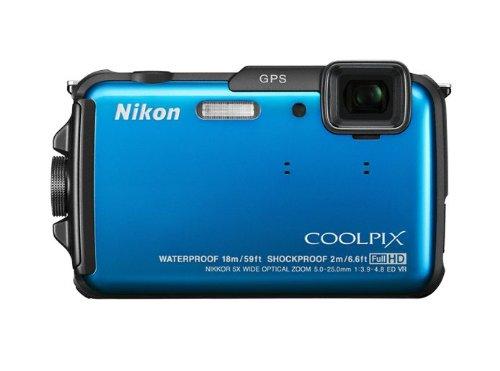 Nikon Coolpix AW110 Outdoor-Digitalkamera (16 Megapixel, 5-fach opt. Zoom, 7,6 cm (3 Zoll) OLED-Display, wasserdicht bis 18 m, stoßfest bis 2 m, kälteresistent bis -10 Grad, Wi-Fi, GPS) pacific blau