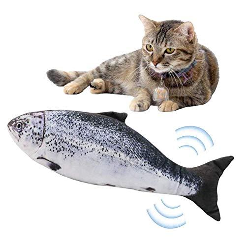 ZXD Haustier-Simulation elektrischen Baby-Fisch, Katze Kick Fisch Spielzeug, schwimmender Fisch Spielzeug, Haustier Kissen beißen bite bite Versorgung (USB-Aufladung),B