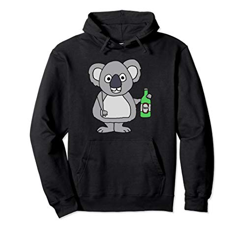 Smileteesall lustiges trinkendes Bier des Koala-Bären Pullover Hoodie