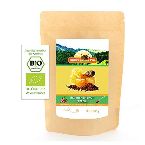 Bio Bienenbrot / Perga von ImkerPur®, 200 g, komplett rückstandsfrei und ohne Zusätze, fermentierter Blütenpollen
