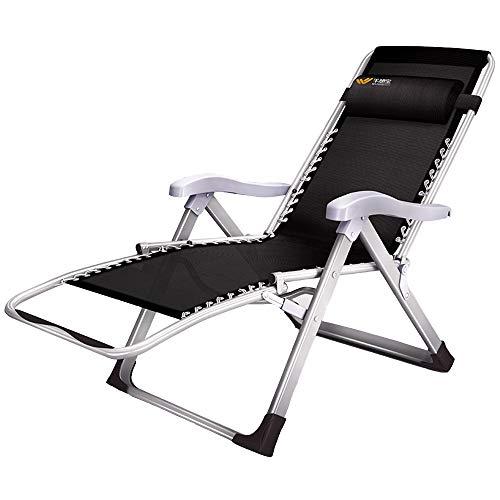 Axdwfd Zero Zwaartekrachtstoel, opklapbare ligstoel, opklapbare lakens People Nap Bed Office Adult Cool Chair Draagbare multifunctionele strandstoel 80x52x115cm