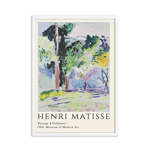 Carteles e impresiones de Henry Matisse imágenes de paisajes abstractos pinturas en lienzo sin marco pinturas en lienzo A5 60x80cm