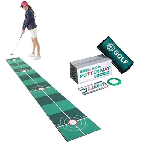 H&Yo パターマット 3点SET パター練習マット パター練習用マット パッティングマット 距離感練習 40cmx2.5m