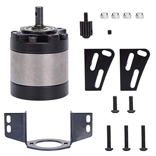T best RC Car Gearbox, 1/5 Planetengetriebe D90 RC Planetengetriebe RC Car Accessories(Schwarz)