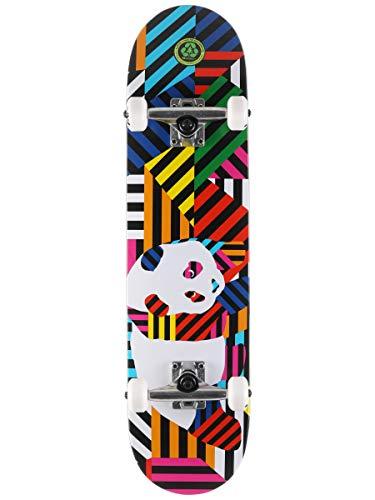 Enjoi Panda Stripes Skateboard für Kinder, Kunstharz, mit weichen Rädern, 19,7 cm, mehrfarbig