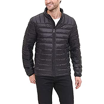 Tommy Hilfiger Men s Packable Down Puffer Jacket Black Large