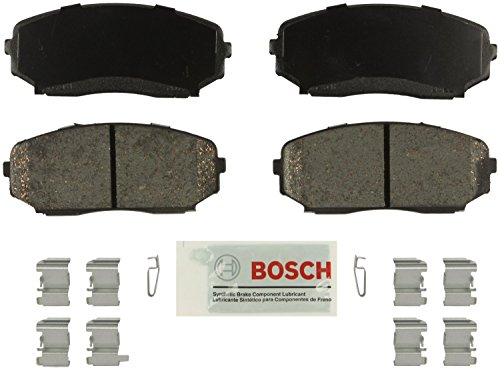 Bosch BE1258H Blue Disc Brake Pad Set with Hardware For: Ford Edge; Lincoln MKX;...