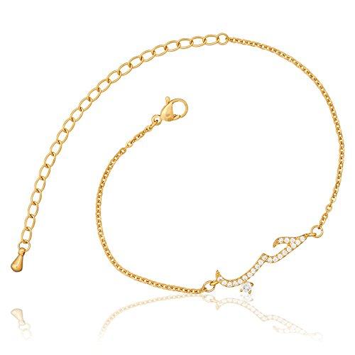 Selia Liebe Armband Schrift Love Arabisch Armreif minimalistische Optik Liebe Edelstahl handgemacht (Gold)