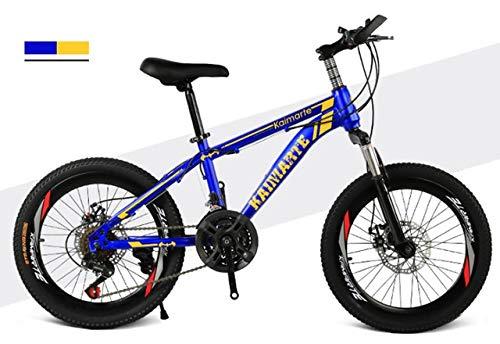 QAZ 20 Pulgadas de Bicicletas de montaña 21 Bicicletas de Velocidad Delantero y Traseros de Discos Frenos de Bicicleta Marco Recto de la Bici de montaña del Montar a Caballo