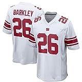 Maillot de Football américain pour homme-26# Barkley Giants Rugby Jersey Polo Shirt, Vapor Limited Jersey Sportswear T-Shirt, personnalisé Votre nom et Votre numéro-Red-XXXL