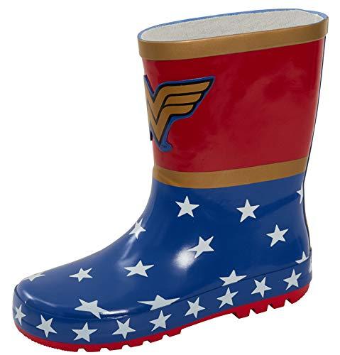 DC Comics Wonder Woman Botas de goma Wellington para niños lluvia nieve zapatos oro Wellies, color, talla 36 EU