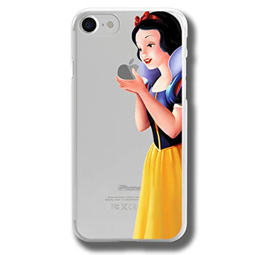 RENGMIAN Funda iPhone 5/iPhone 5S,Snow Whte Wth Pple Scratch-Resistant Transparent Soft TPU Case Pattern-356 Resistant Slim Fit iPhone 5/5S