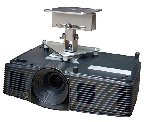 PCMD, LLC. Projector Ceiling Mount Compatible with BenQ CinePrime HT3550 TK810 TK850 W2700 with Lateral Shift Coupling (5-Inch Extension)