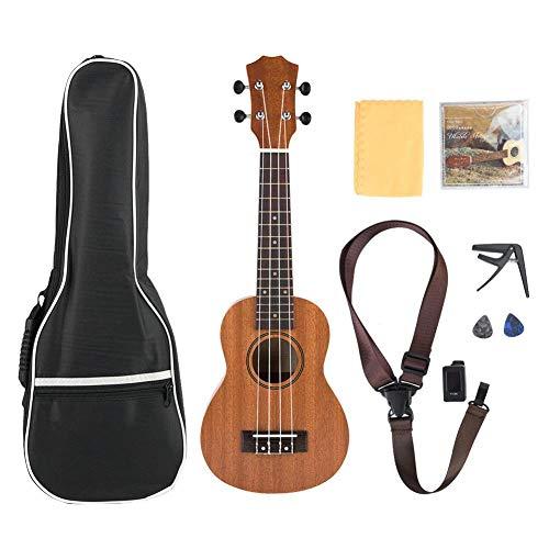 Ukelele Beginner 21 inch Sapelli Concert Classic Ukelele Leer om 4 snaren Hawaii gitaar muziekinstrument set met tas te spelen
