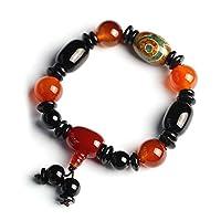 J.Memi.Men Natürlicher Achat Perlen Armband Buddhistische Dzi Perlen Nationaler Stil Schmuck Valentinstag Weihnachten Geschenk,B