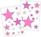 25 Sterne Wandtattoo fürs Kinderzimmer - Wandsticker Set - Pastell Farben, Baby Sternenhimmel zum Kleben Wandaufkleber Sticker Wanddeko - Wandfolie, Kleinkinder, Erstausstattung auf...