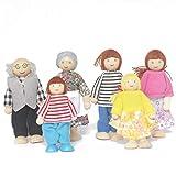 Bascar Holz Menschen Anzug Holzmöbel Puppenhaus Familie Miniatur 6 Personen Set Puppe Spielzeug...