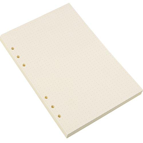 A5 6-Ring Binder Planer Refill Papier Dot Grid Refills für Zeitschriften Notizbuch Tagebücher Einsätze, 8,35 x 5,59 Zoll (200)