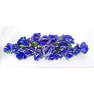 2 Ft Swag Royal Blue Roses Wedding Silk Flowers