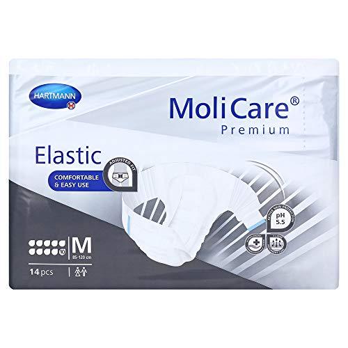 MoliCare Premium Elastic 10 Tropfen Größe M Karton (4 x 14 Stk.) Karton | Inkontinenz Windeln | Inkontinenz Slip | Inkontinenzhose (M)