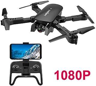 Adsvtech WiFi FPV RC Drone con cámara Doble 1080 HD para Principiantes Quadcopter Plegable Belleza automática fotografía de Gestos Vuelo de trayectoria Negro