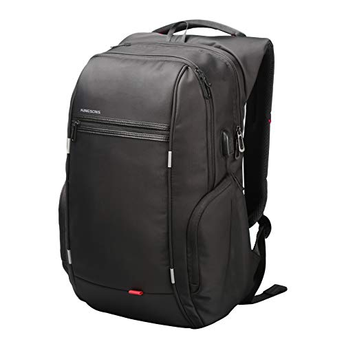Work Backpacks for Men, Waterproof 15.6 Inch Laptop Backpack with Charing Port, Anti Theft Backpack Black School Bags