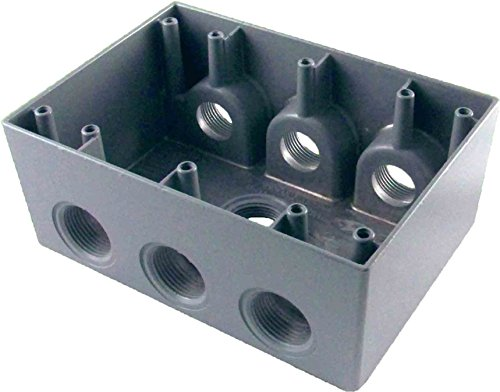 Greenfield DB373PS Series Weatherproof Electrical Outlet Box, Gray