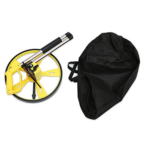 Stabiler Folding WEGMESSUNG Meter Rad Handdistanzvermessung Entfernungsmesser Tragbarer Zähler Surveyor Tool (Farbe: gelb und schwarz)