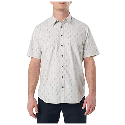 5.11 Tactical Men's Poly-Cotton Have A Knife Day Short Sleeve Shirt, Pebble, Large, Style 71376