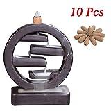 Milky Way Ceramic Backflow Incense Burner Incenser Holder Handmade Incense Cone Holders Home Decor...