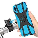 SYOSIN Bike Phone Mount, Detachable 360° Rotation Motorcycle Phone Mount with Adjustable...