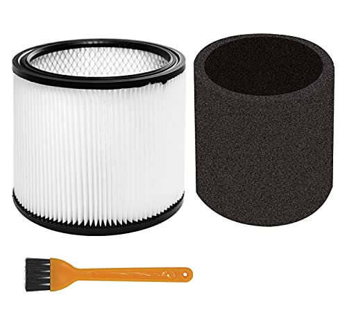 MZY LLC Foam Sleeve Filter for Shop-Vac 90350 90304 90333 Replacement fits most Wet/Dry Vacuum Cleaners 5 Gallon and above, Compare to Part # 90304, 90585